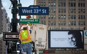 "Nama Jalan Manhatan di New York City Diganti dengan ""Muhammad Ali Way"""