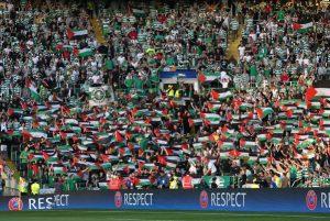 Liga Champions: Ribuan Fans Sepak Bola Celtic Kibarkan Bendera Palestina saat Lawan Club Israel