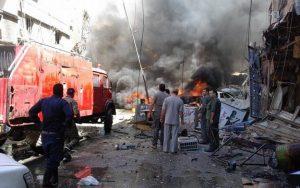 Rezim Syiah Assad Jatuhkan Bom Klorin di Saraqib, Idlib