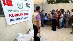 LSM Turki Bagikan 9000 Paket Daging Qurban ke Keluarga Miskin Gaza