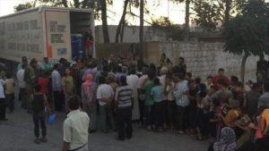Lembaga Kemanusian Turki Kirim Bantuan Makanan ke Jarablos untuk 8.000 Orang Per Hari