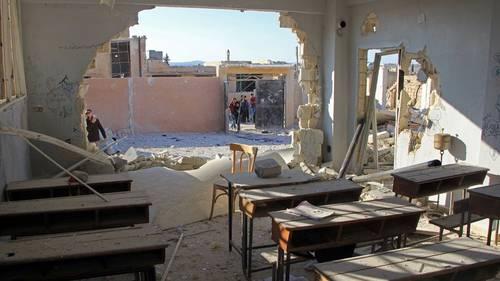 Serangan Udara Rezim Syiah Assad Hantam Sekolah Taman Kanak-kanak di Idlib