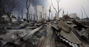 Gambar Satelit Menunjukkan Desa Muslim Rohingya Kembali Dibakar