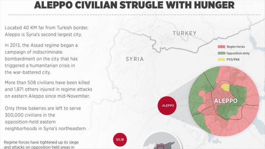 300.000 Warga Sipil Aleppo Berjuang Menahan Lapar