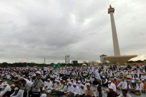 Masya Allah, Jutaan Peserta Bela Islam III Memenuhi Monas Hingga Bundaran HI