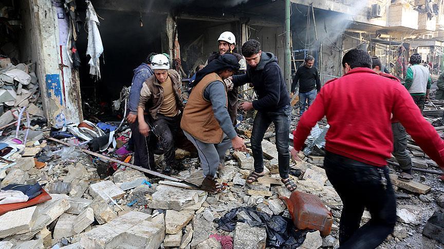Serangan Udara Rusia Hantam Pasar di Idlib, Belasan Warga Tewas
