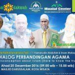 """Hadirilah  Dialog """"Perbandingan Agama"""" di Masjid Darussalam, Kota Wisata"""
