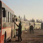 Konvoi 46 Bis Pengungsi Tiba di Pinggiran Barat Aleppo
