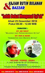 Kajian Bulanan Perminda Bandung 'Lebih Dekat Mengenal Syi'ah' Bersama Ustadz Fuadz Al Hazimi
