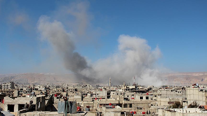 Pasukan Assad Membombardir Warga yang Sedang Melayat di Timur Damaskus, Belasan Tewas