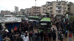 Kloter Pertama Pejuang Oposisi Suriah dan Warga Sipil Tinggalkan Homs