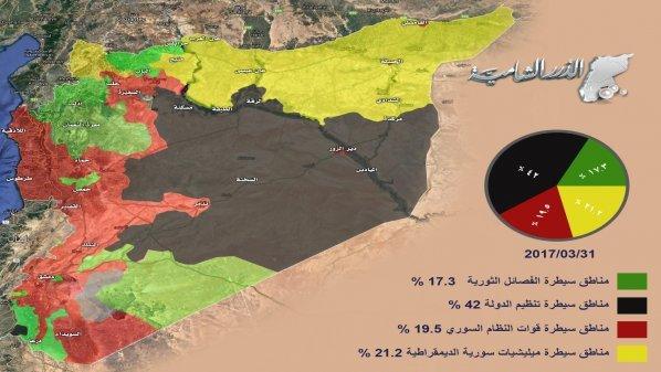 Faksi Revolusioner Suriah Rilis Info Grafik Peta Wilayah yang Dikuasai