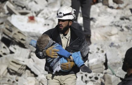 Jet Tempur Syiah Assad dan Rusia Incar Tim Medis White Helmets