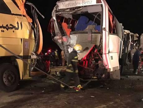Korban Meninggal akibat Tabrakan Bis Beruntun Jamaah Umrah Bukan 130 tapi 6 Orang