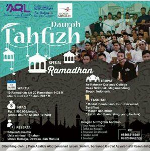 AQL Tawarkan Berbagai Program Ramadhan Berbasis Qur'an