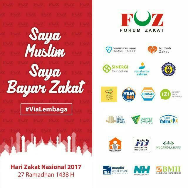 Hari Zakat Nasional, Forum Zakat Kampanyekan #SayaMuslimSayaBayarZakat