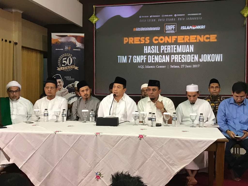 Kompak, Pimpinan GNPF MUI dan FPI Ungkap Hasil Pertemuan dengan Presiden Jokowi