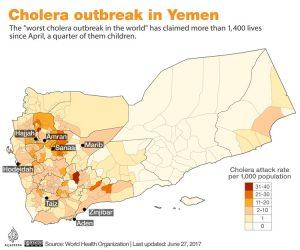 Sejak April 246.000 Orang Yaman Terserang Wabah Kolera, 1.500 Telah Tewas