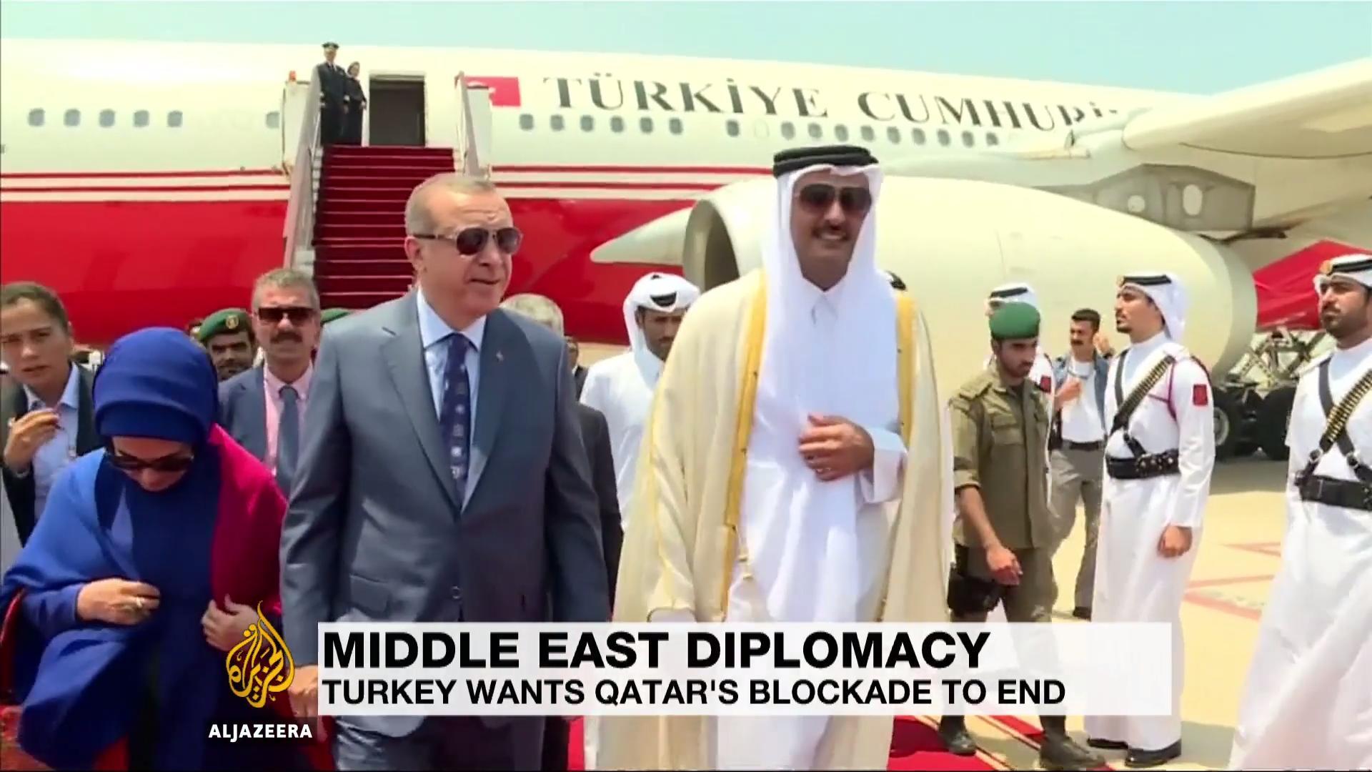 Erdogan Temui Amir Qatar Bahas Krisis Teluk di Doha