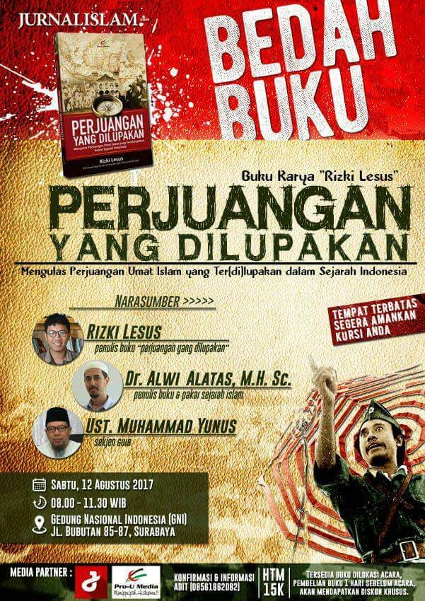 Hadirilah! Bedah Buku 'Perjuangan Yang Dilupakan' di Surabaya