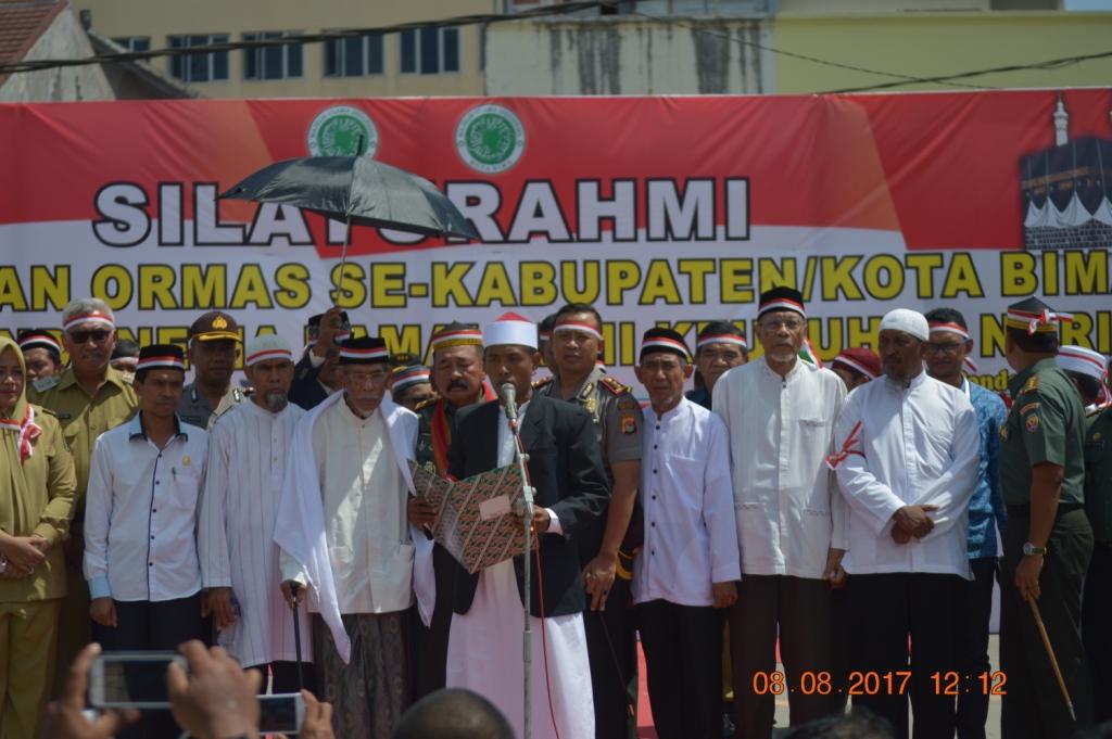 Ini 4 Poin Ikrar Kebangsaan Ormas Islam dan Pondok Pesantren se- Bima