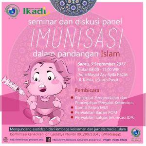 "Hadirilah! Seminar & Diskusi Panel ""Imunisasi dalam Pandangan Islam"""