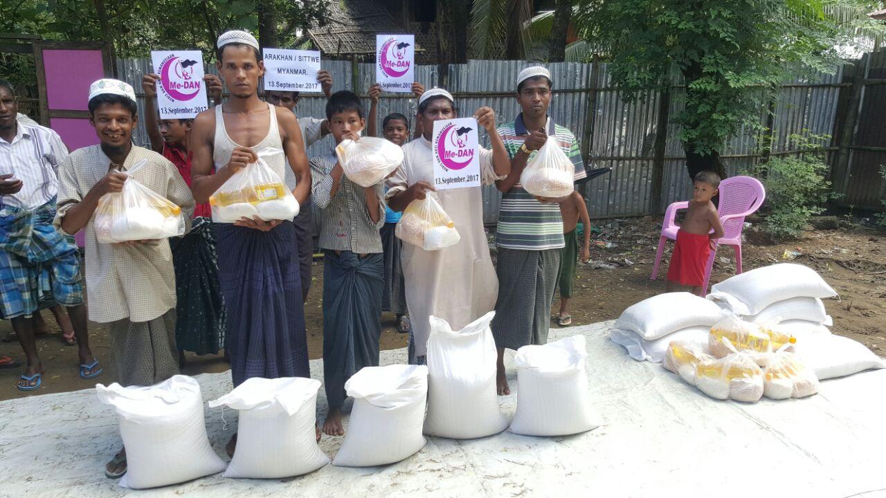 Forum Me-DAN Berhasil Salurkan Bantuan ke Kamp Pengungsian Terisolasi di Sittwe, Rakhine
