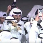Pulang dari Majelis Umum PBB Amir Qatar Disambut Ribuan Ekspatriat