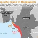 Kapal Sarat Muatan Berjumlah 100 Orang Rohingya Terbalik di Distirk Bazar Cox