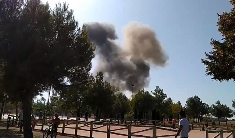 Jet Tempur Spanyol Jatuh saat Kembali ke Markas
