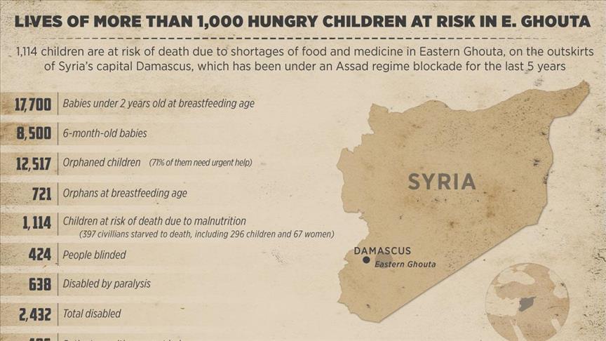 Ghouta Timur Diblokade Rezim Syiah Assad, 1.000 Anak Lebih Terancam Kematian