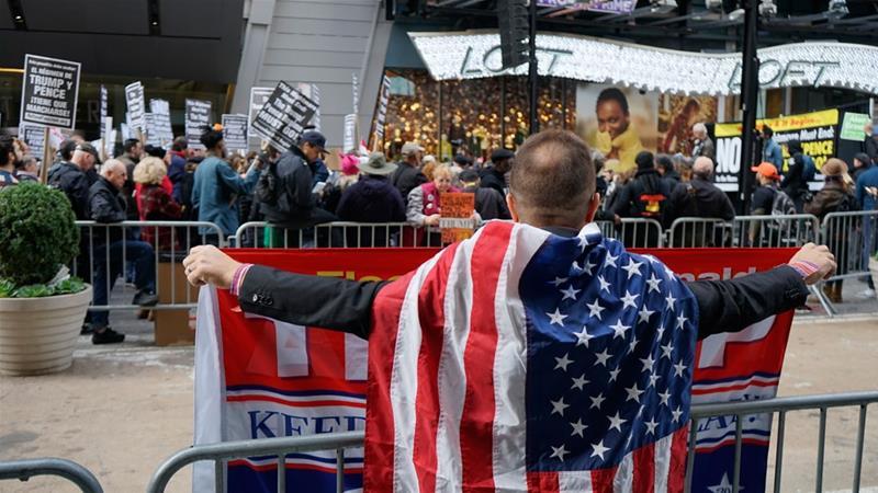 Dituduh Rencanakan Kudeta Berdarah, Kelompok Sayap Kiri AS Gelar Demo Anti-Trump