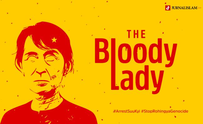 Aung San Suu Kyi Dinobatkan sebagai Tokoh Nomor 1 Islamophobia Dunia