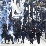 Ribuan Warga Gaza Bentrok dengan Serdadu Zionis dalam Aksi Protes Ibukota Israel