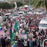 Solidaritas Afrika untuk Palestina Gelas Aksi di Gereja Katedral, Aljazair: Al Quds Milik Kita