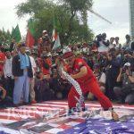 [FOTO] Senin Ini, Ribuan Massa Elemen Umat Islam Kembali Geruduk Kedubes AS