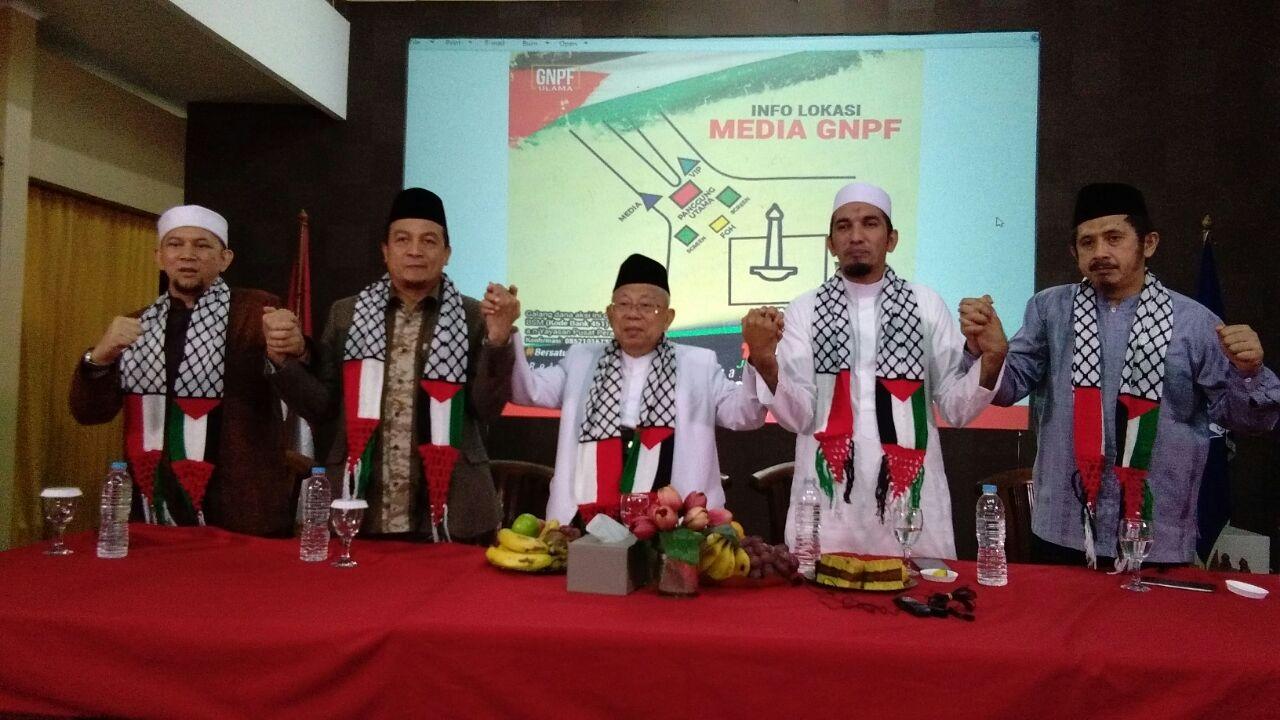 Akan Pimpin Aksi 1712, KH Ma'ruf Amin : Indonesia Bersatu Bela Palestina