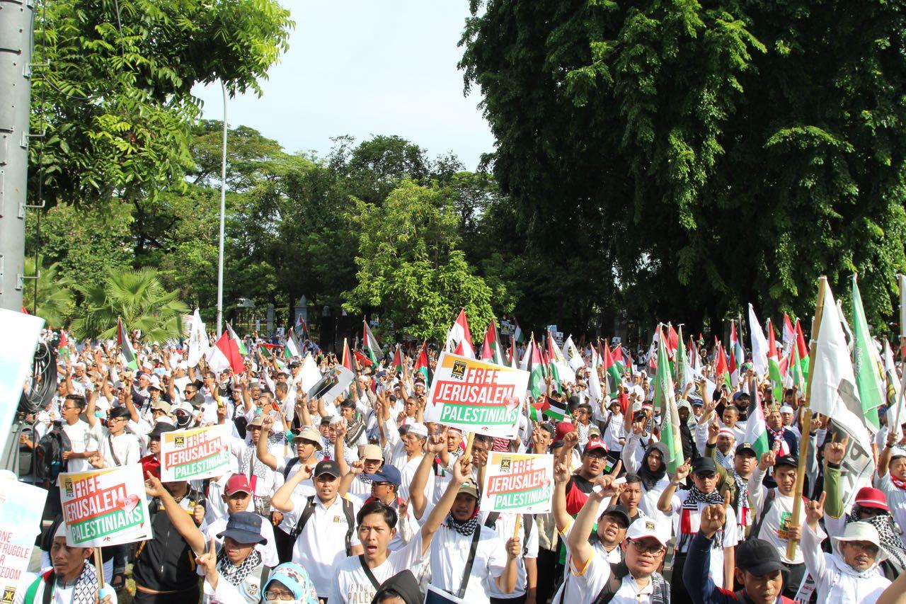 Aksi Bela Palestina dan Tolak AS Terus Bergulir, Kini dari Dompu NTB