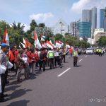 Gabungan Elemen Pemuda, Mahasiswa, dan Pelajar Surabaya Gelar Aksi Bela Palestina
