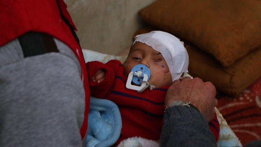 Balita Karim Tinggal di Bawah Tanah untuk Hindari Serangan Rezim Assad di Ghouta