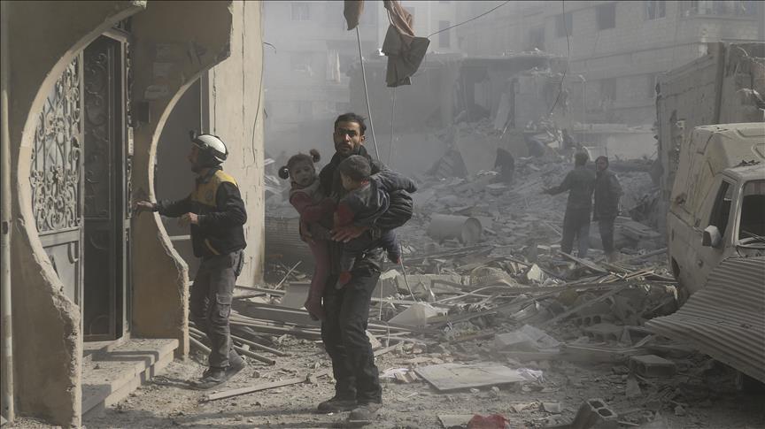 Biadab, Serangan Rezim Syiah Assad Kembali Bunuh Warga Ghouta Timur, 33 Tewas