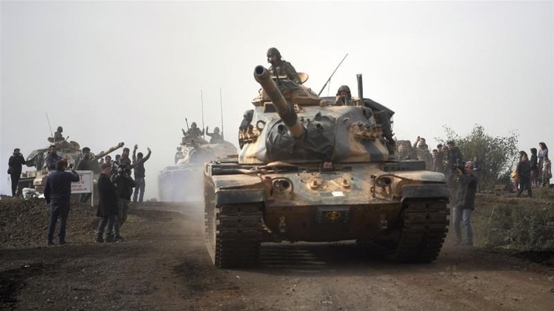 Angkatan Darat Turki Kuasai Sebuah Desa Strategis dan Dua Bukit Afrin