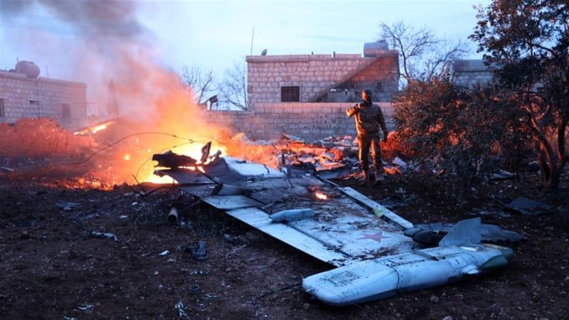 Mujahidin HTS Tembak Jatuh Pesawat Tempur Rusia di Idlib