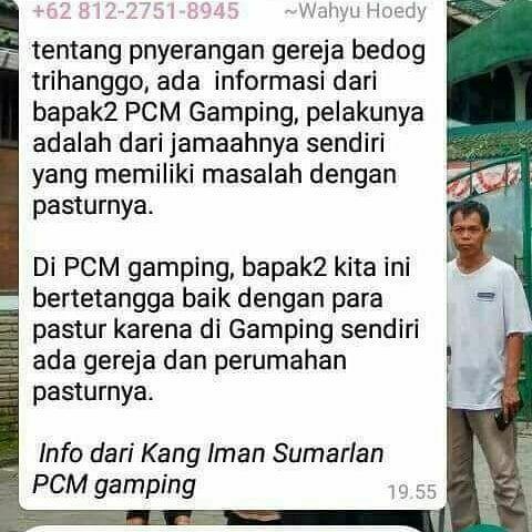 PC Muhammadiyah Gamping Bantah Broad Cast Terkait Penyerangan Gereja Lidwina