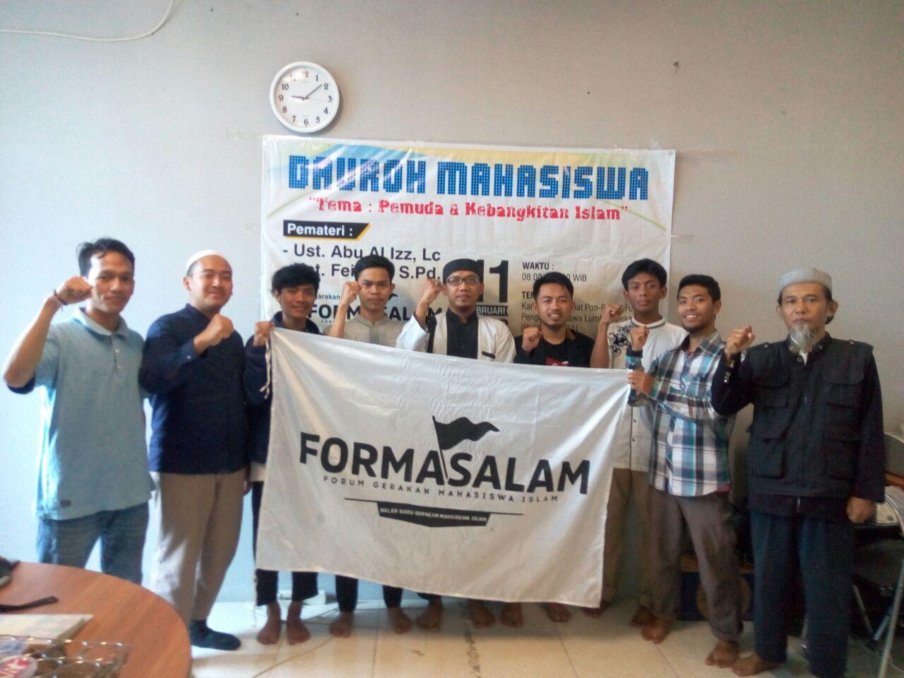 Dauroh Formasalam Jakarta Targetkan Lahirnya Pejuang Islam Masa Depan