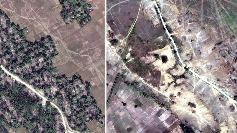 Pemerintah Myanmar Hilangkan Bukti Kejahatannya dengan Ratakan 55 Desa Rohingya