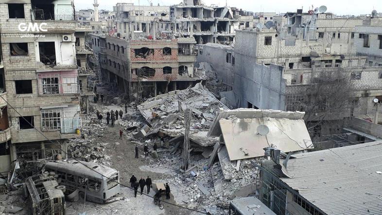 Beberapa Menit setelah DK PBB Keluarkan Resolusi, Jet Tempur Assad Membom Ghouta Timur