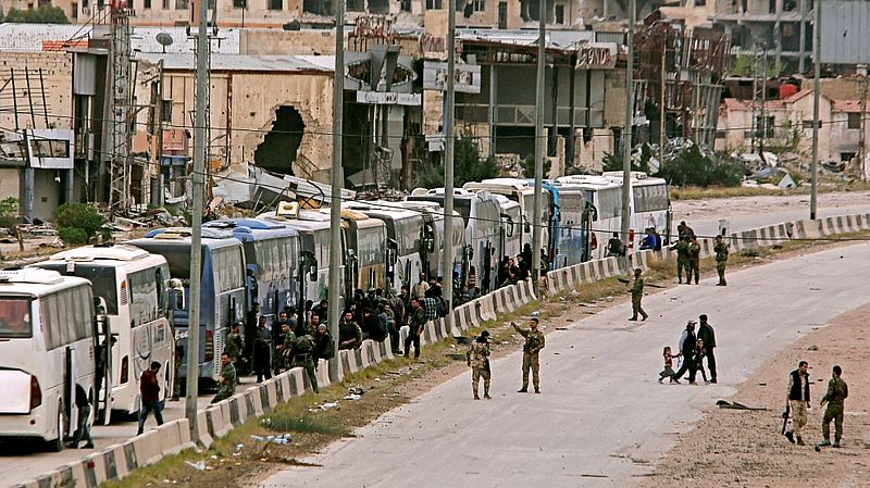 7.000 Pejuang Faylaq ar Rahman Dievakuasi dari Ghouta ke Idlib Hari ini