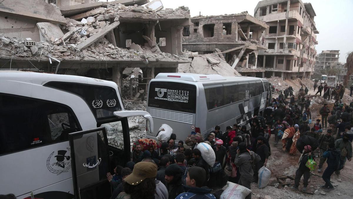 Menuju Benteng Mujahidin di Idlib, Begini Perkembangan Terakhir Evakuasi di Ghouta