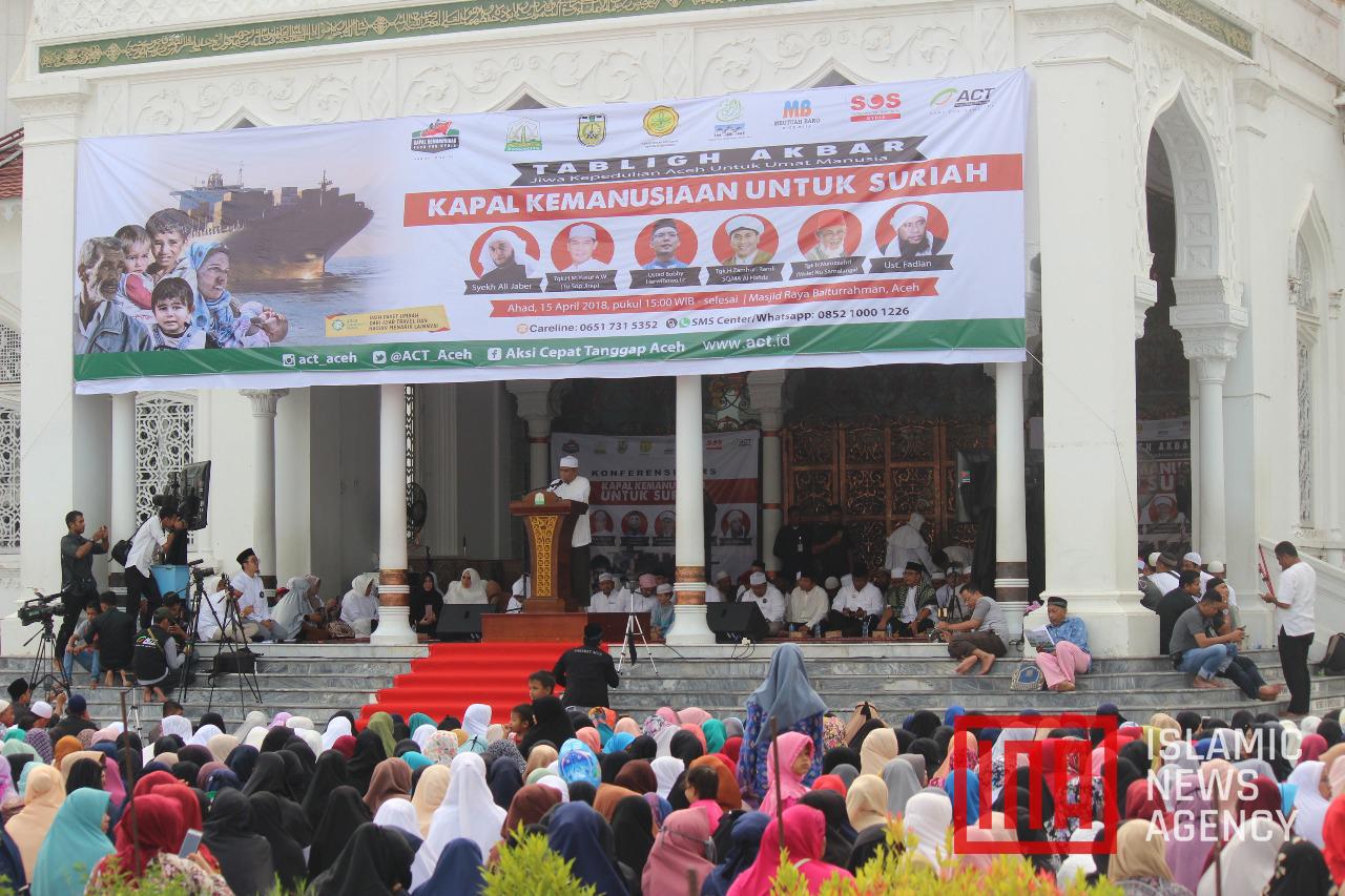 Tabligh Akbar ACT, dari Ibu-ibu Hingga Pengayuh Becak di Aceh Antusias Bantu Rakyat Suriah